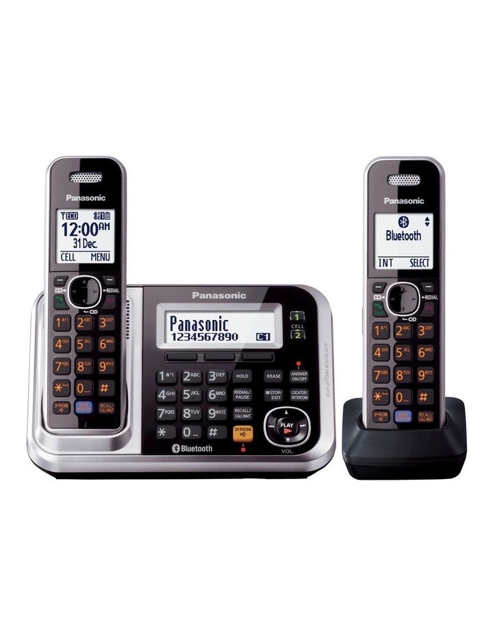 Kx-Tg7892Azs Dect Bluetooth Cordless Phone With Answering Machine Twin Pack image 2