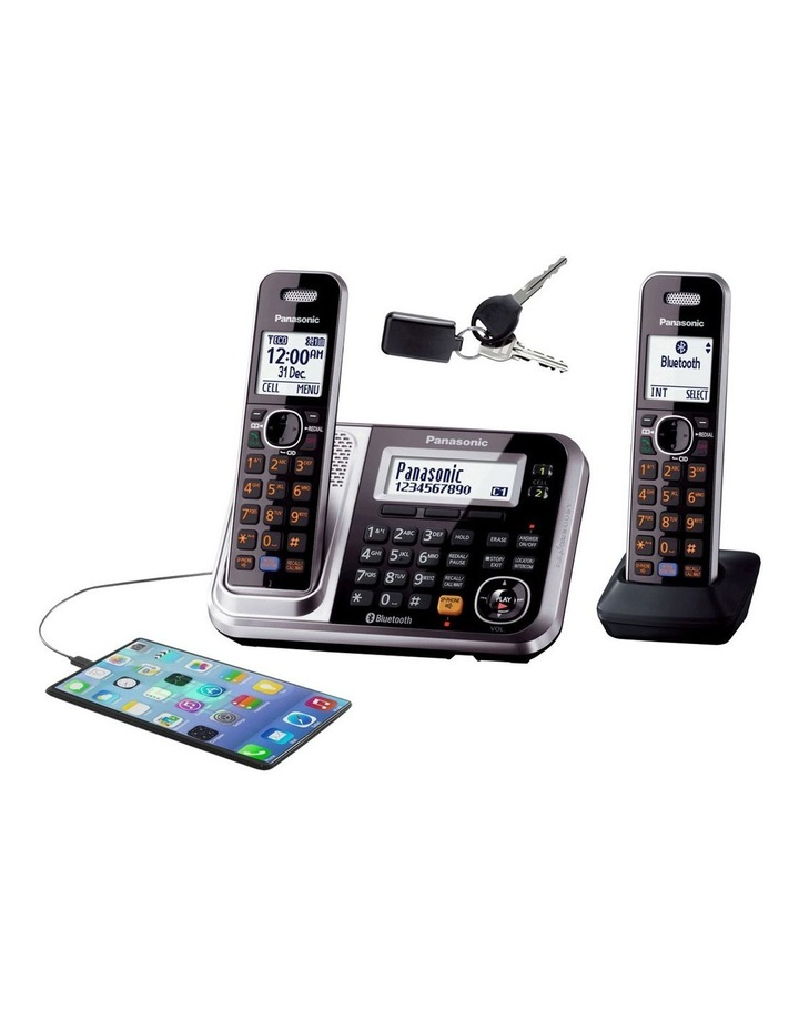 Kx-Tg7892Azs Dect Bluetooth Cordless Phone With Answering Machine Twin Pack image 3