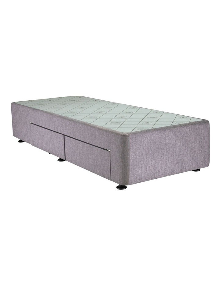 Space Saver Right Hand Two-Drawer Bed Base in Taupe image 1