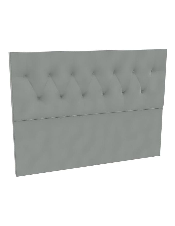 Zinc Velvet Tufted Bedhead 120cm Low image 1