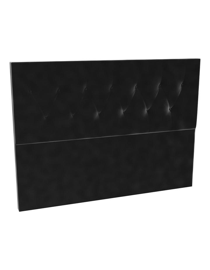 Black Velvet Tufted Bedhead 120cm Low image 1