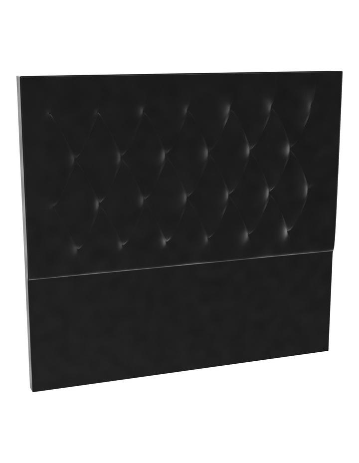 Black Velvet Tufted Bedhead 150cm High image 1