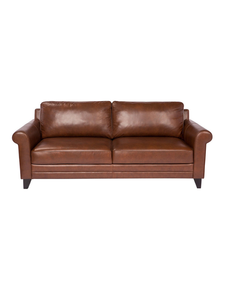 Vincent 3 seater sofa in Cat 27 Natural Brown Leather image 1