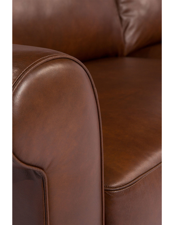 Vincent 3 seater sofa in Cat 27 Natural Brown Leather image 3
