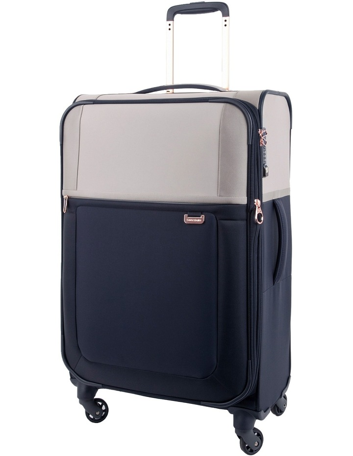 Uplite Medium 71cm Softside Spinner Suitcase - Pearl/Blue image 1
