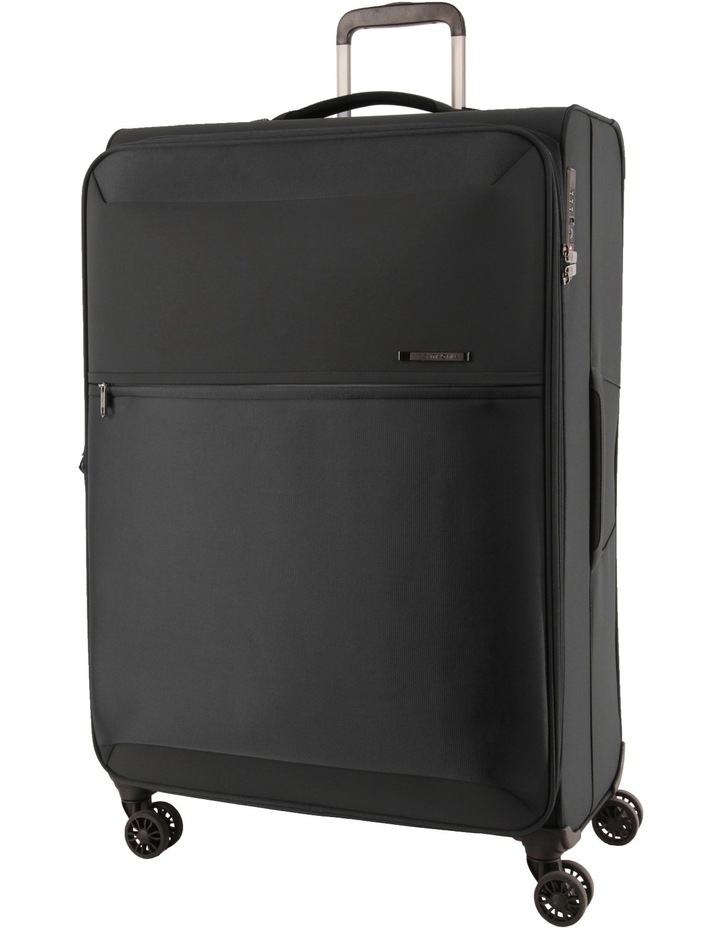 72Hrs Deluxe Softside Spinner Case Large Black 78cm 2.8kg image 1
