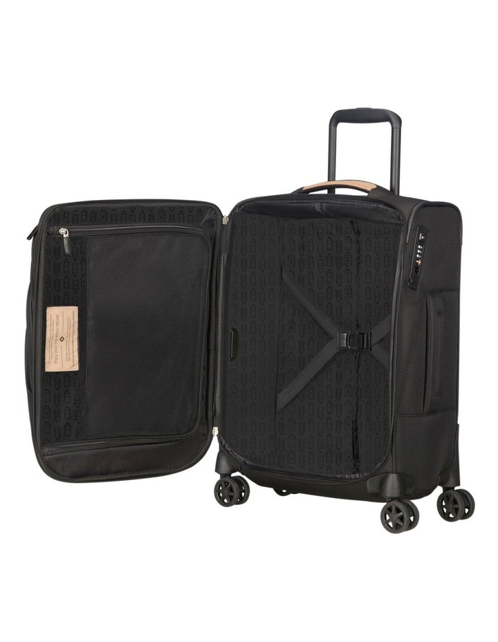 Spark Eco Small 55cm Softside Spinner Suitcase - Black image 4