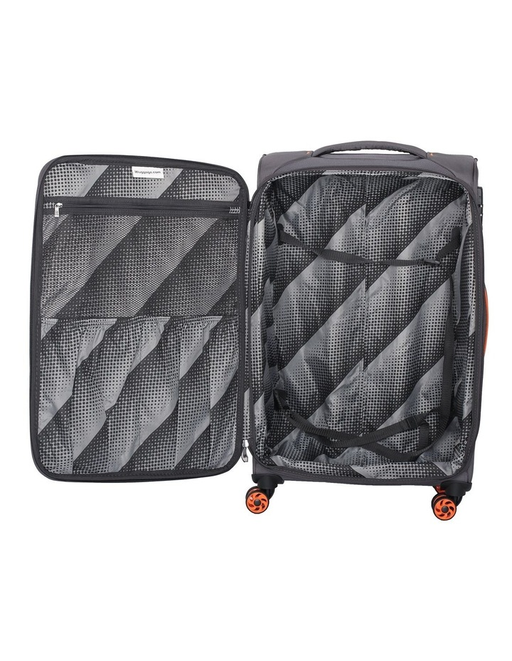 MegaLite Bold Softside 79cm Suitcase Grey image 4