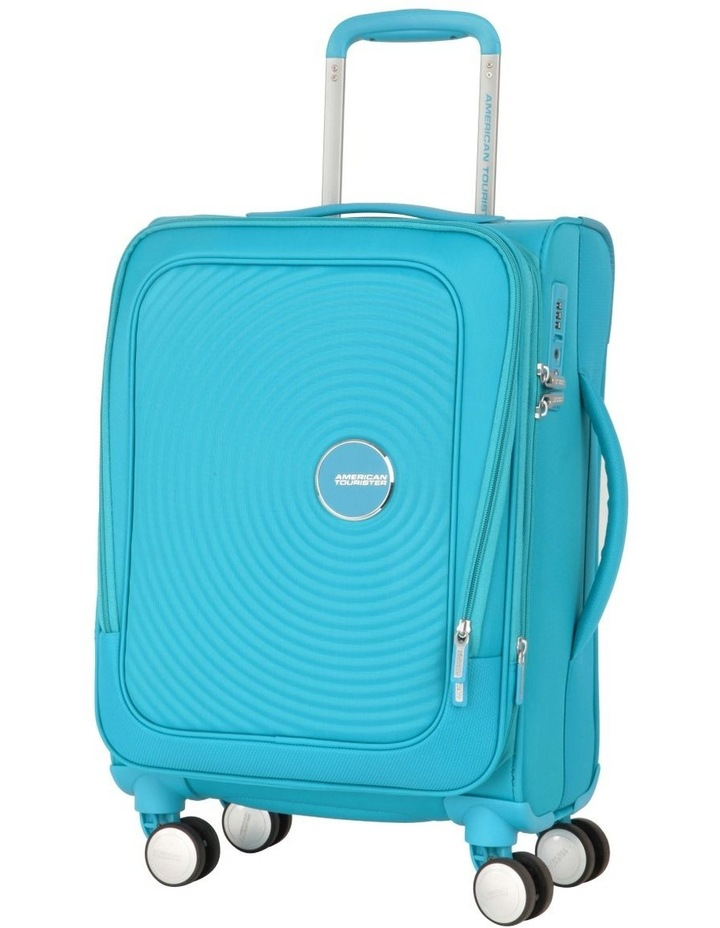 Curio Softside Spinner Case 55cm Turquoise 2.7kg image 1