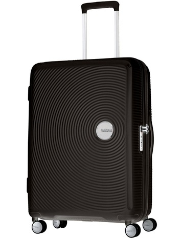 ac5f1e400a49 American TouristerCurio Expandable Hardside Spinner Case Medium 70cm Black  3.8kg