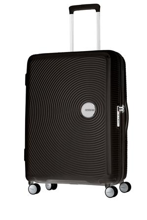 American Tourister - Curio Expandable Hardside Spinner Case Medium 70cm Black 3.8kg