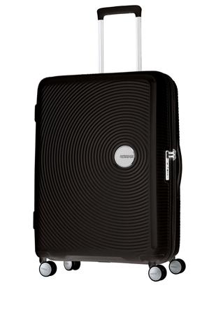 American Tourister - Curio Expandable Hardside Spinner Case Large 80cm Black 4.8kg