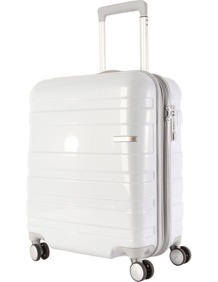 HS MV  Deluxe Expandable Hardside Spinner Case White: Small 55cm  2.9kg image 1