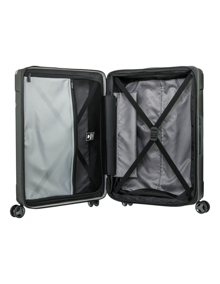 Evoa Expandable Small 55cm Hard Spin Suitcase - Brushed Black image 2