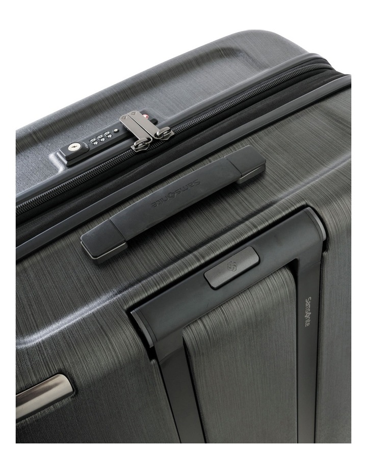 Evoa Expandable Small 55cm Hard Spin Suitcase - Brushed Black image 4