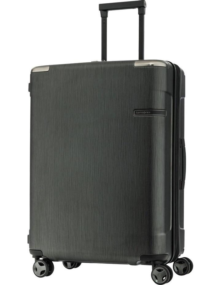 Evoa Expandable Medium 69cm Hard Spin Suitcase - Brushed Black image 1