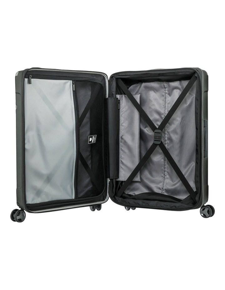 Evoa Expandable Large 75cm Hard Spin Suitcase - Brushed Black image 2