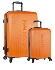 Lifeboat 2 piece Hardside Expandable Suitcase Set-Orange