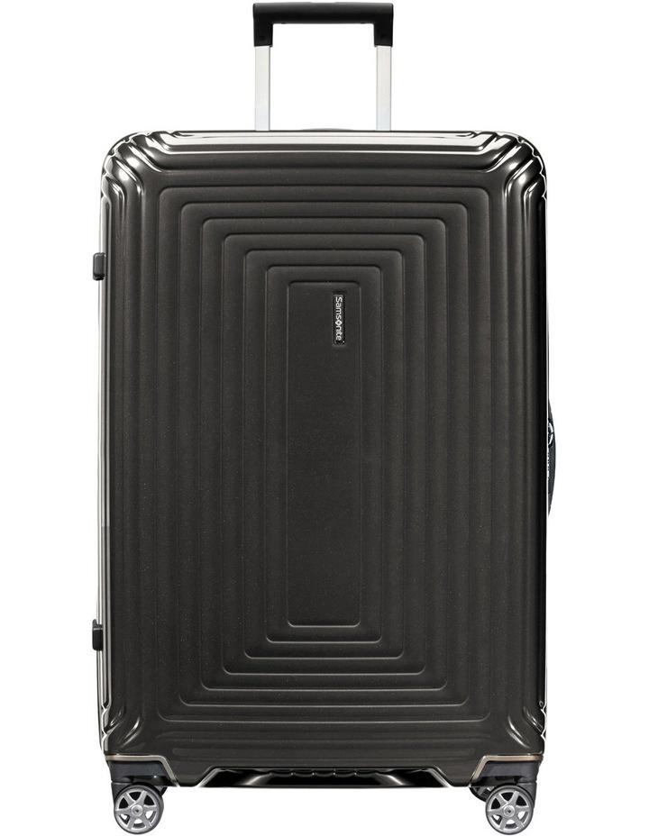 Aspero Small 55cm Hard Spin Suitcase - Metallic Black image 1