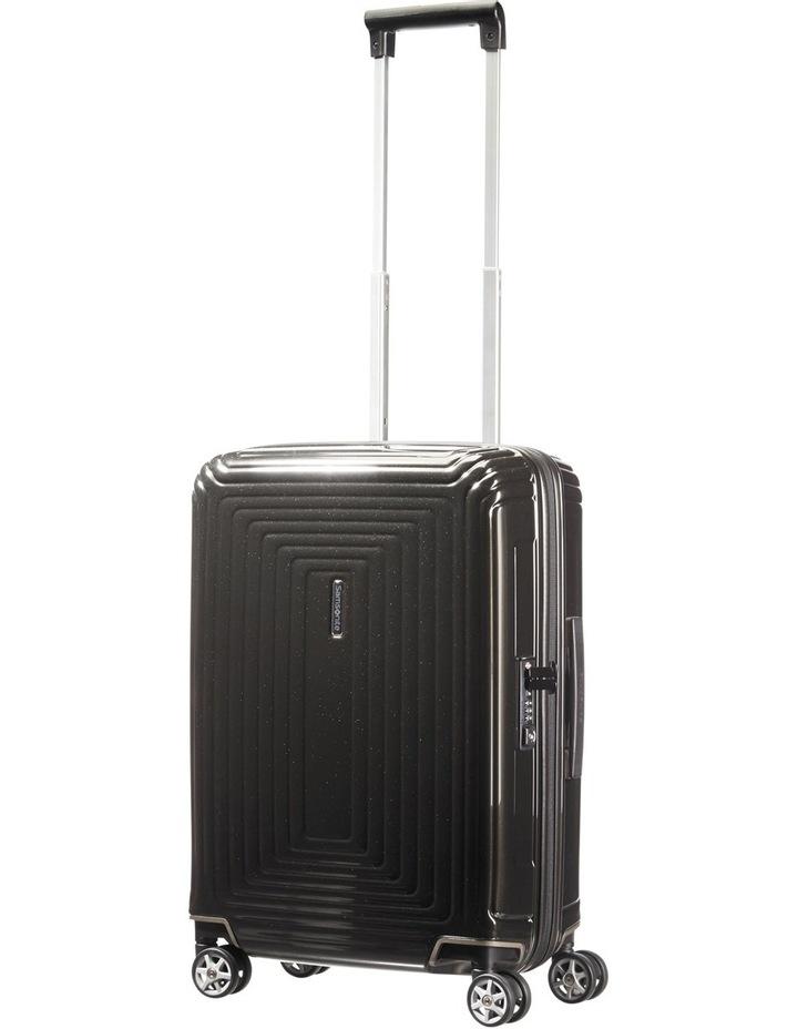 Aspero Small 55cm Hard Spin Suitcase - Metallic Black image 2