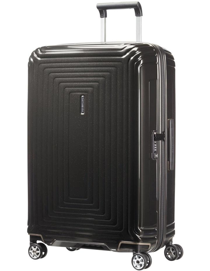 Aspero Medium 69cm Hard Spin Suitcase - Metallic Black image 1