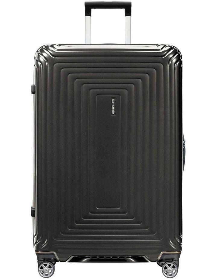 Aspero Large 75cm Hard Spin Suitcase - Metallic Black image 1