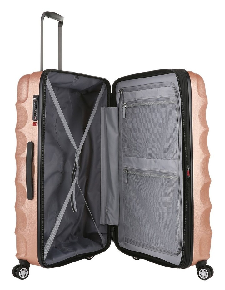 Juno Metallic DLX expandable hardside spinnercase medium 3.7kg 68cm - Rose Gold image 4