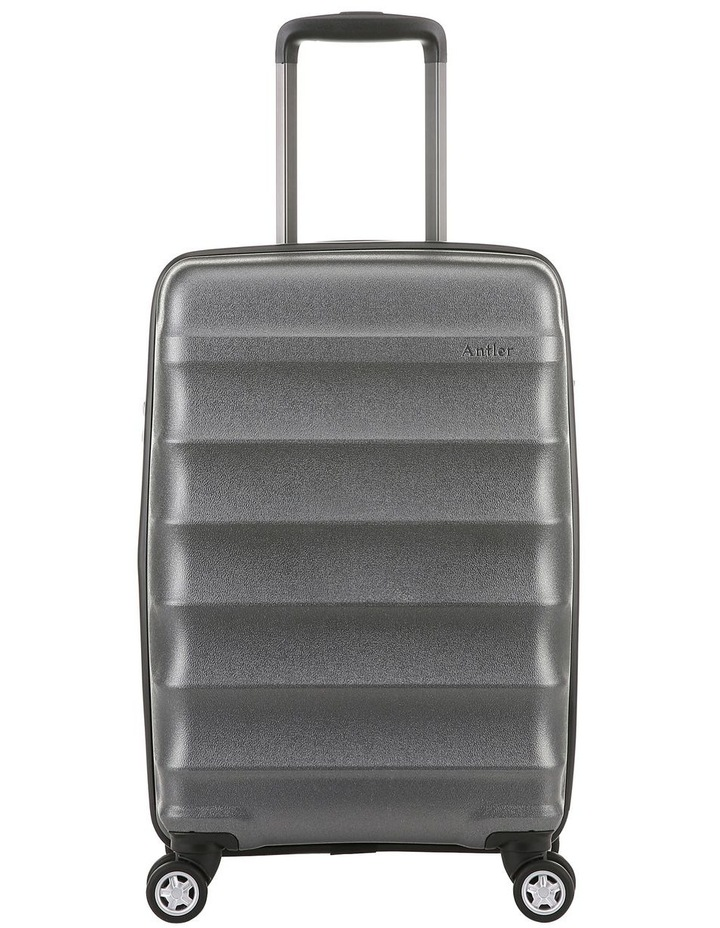 Juno Metallic DLX expandable hardside spinnercase small 2.9kg 56cm -Charcoal image 1