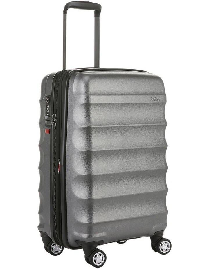 Juno Metallic DLX expandable hardside spinnercase small 2.9kg 56cm -Charcoal image 2