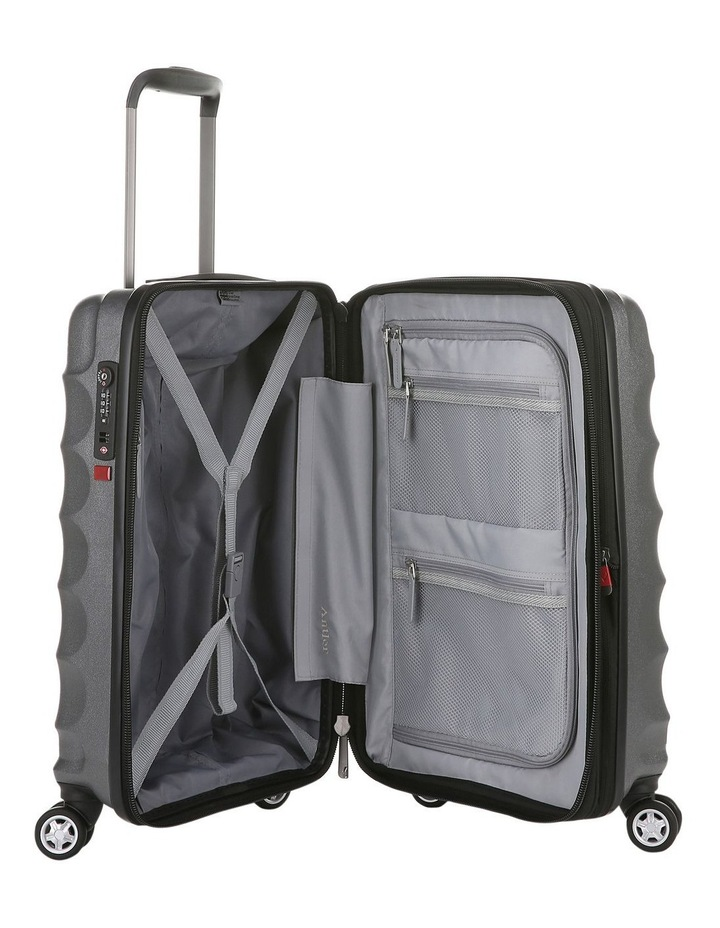 Juno Metallic DLX expandable hardside spinnercase small 2.9kg 56cm -Charcoal image 4