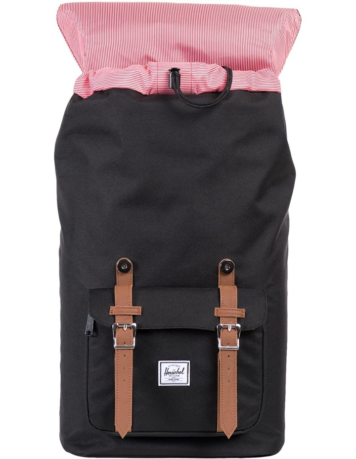 Little America Synthetic Leather Backpack :Black/Tan image 2