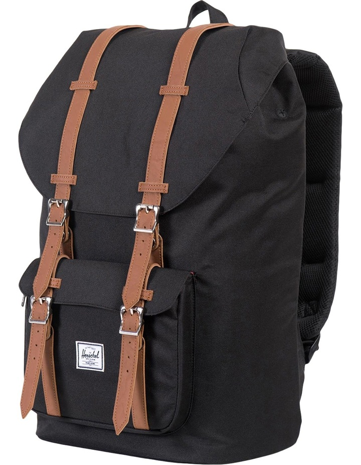 Little America Synthetic Leather Backpack :Black/Tan image 3
