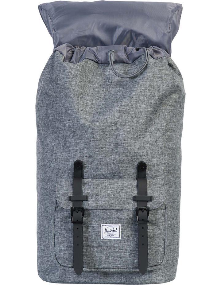 Little America Raven Rubber Backpack : Crosshatch/Black image 2