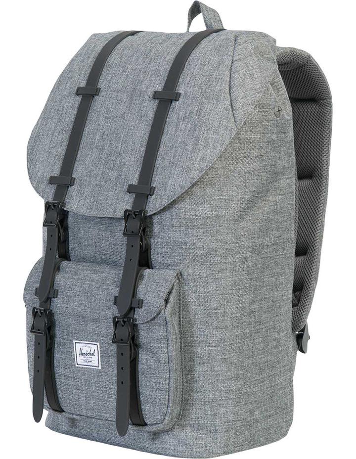 Little America Raven Rubber Backpack : Crosshatch/Black image 3