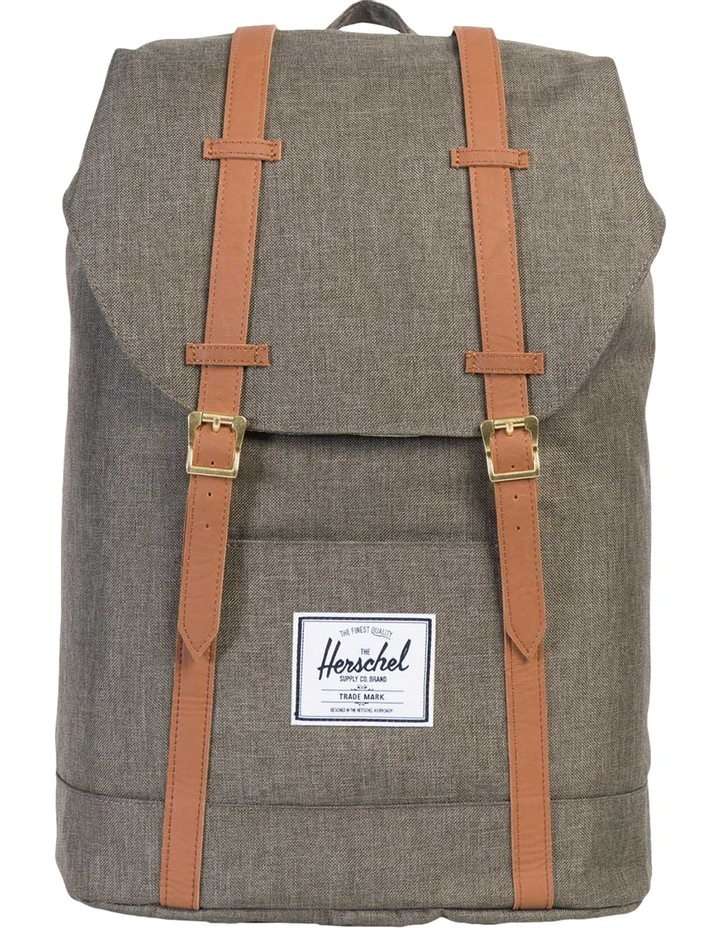 Retreat Canteen Synthetic Leather Backpack : Crosshatch/Tan image 1