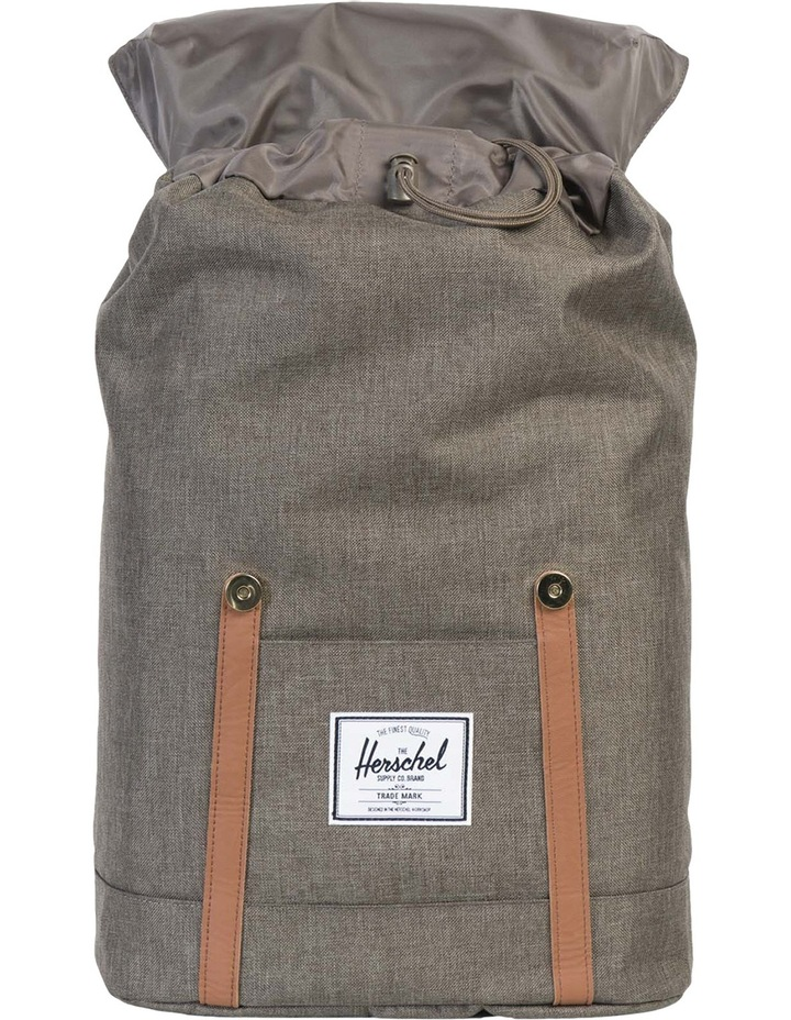 Retreat Canteen Synthetic Leather Backpack : Crosshatch/Tan image 2