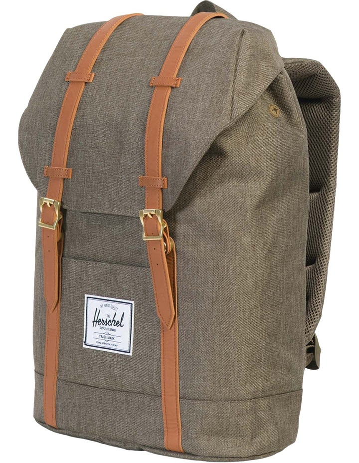 Retreat Canteen Synthetic Leather Backpack : Crosshatch/Tan image 3