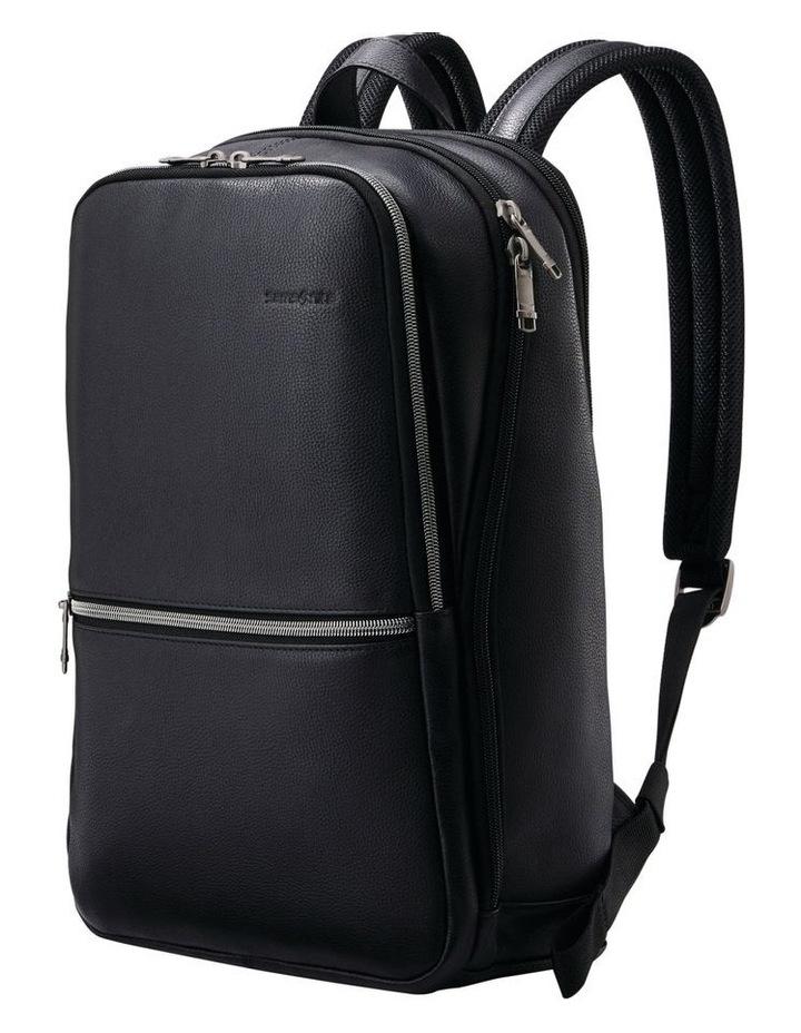 Classic Leather Slim Backpack Black image 1