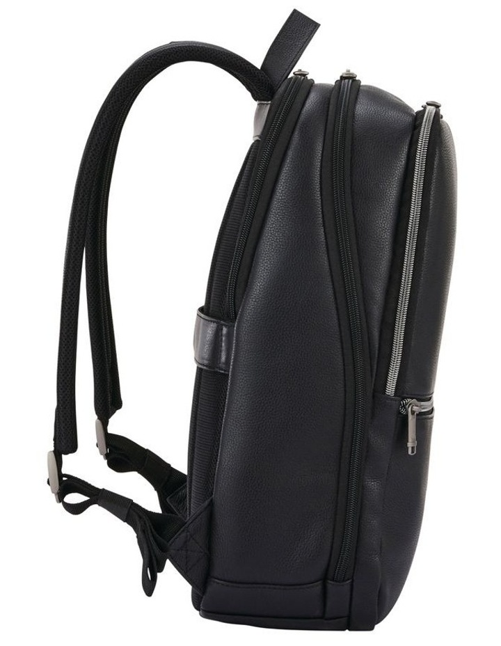 Classic Leather Slim Backpack Black image 2