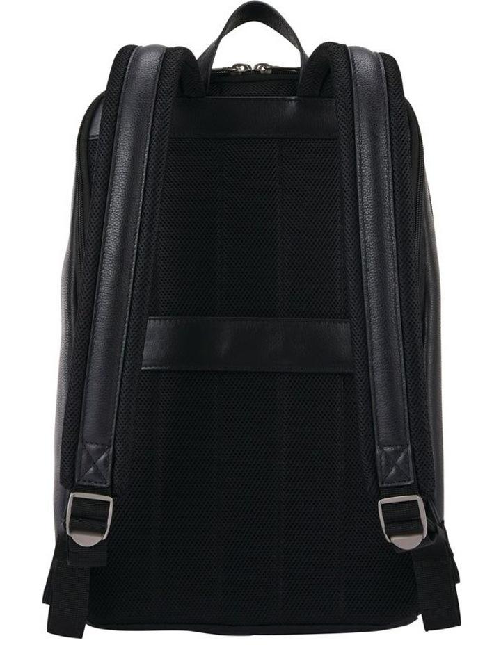 Classic Leather Slim Backpack Black image 3