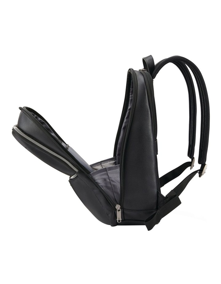 Classic Leather Slim Backpack Black image 4
