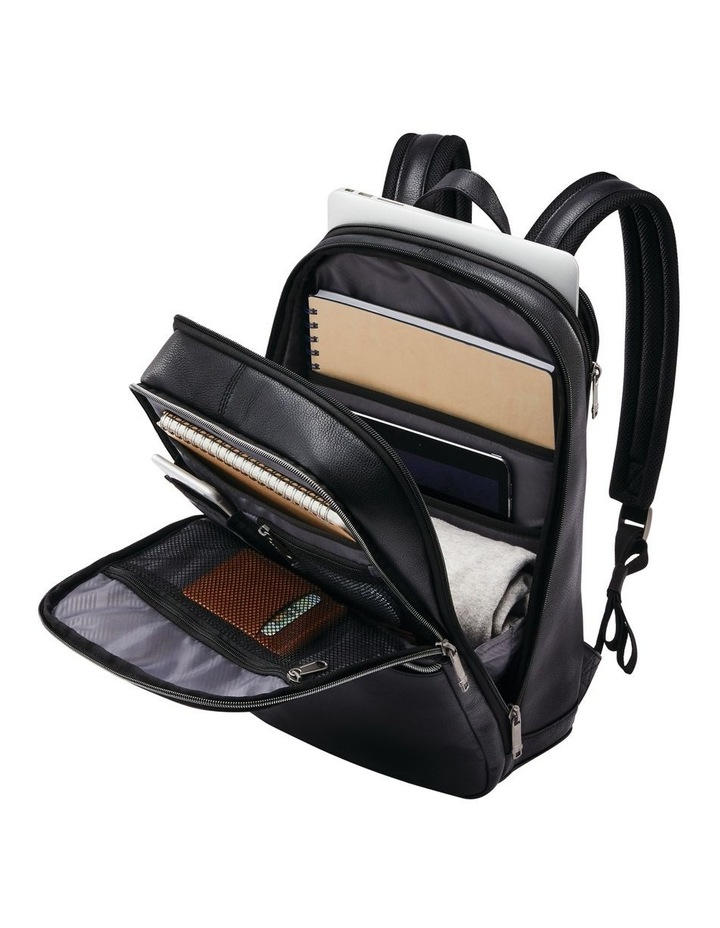 Classic Leather Slim Backpack Black image 5