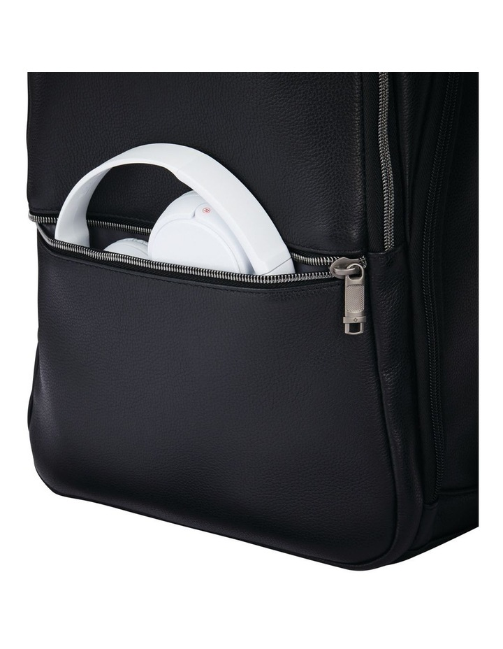 Classic Leather Slim Backpack Black image 6