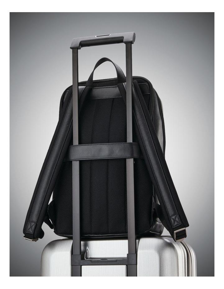 Classic Leather Slim Backpack Black image 7