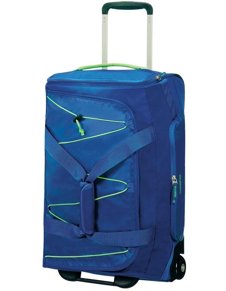 Road Quest 55cm :41L Wheeled Duffle: Blue/Lime image 1