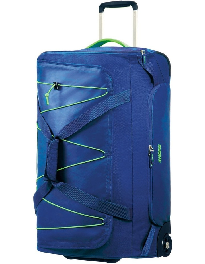 Road Quest 68cm :72L Wheeled Duffle: Blue/Lime image 1
