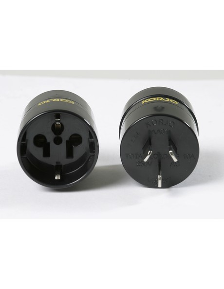 VisitorTravel Adaptor from Europe  USA (non earthed) and Japan to AU/ NZ image 1