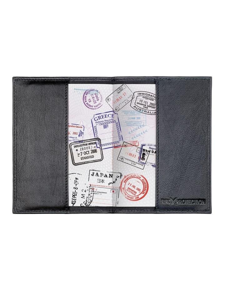 672 RFID Passport Cover: Black image 4
