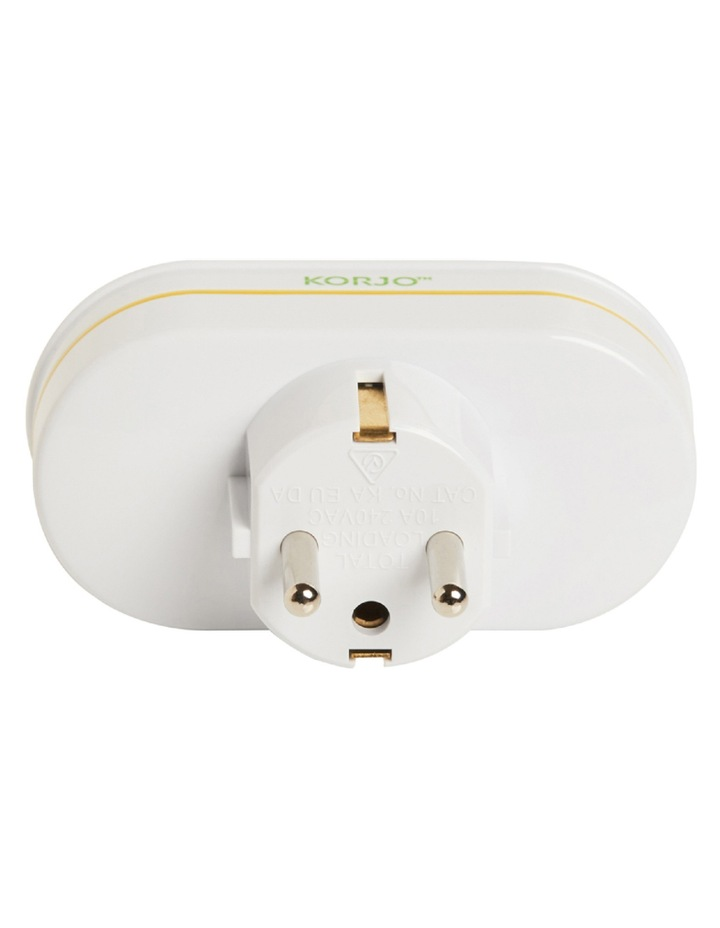 AU TravelDouble Adaptor for Europe  Noumea  Tahiti  Indonesia (Bali) and parts of the Middle East  Asia and South Africa image 2