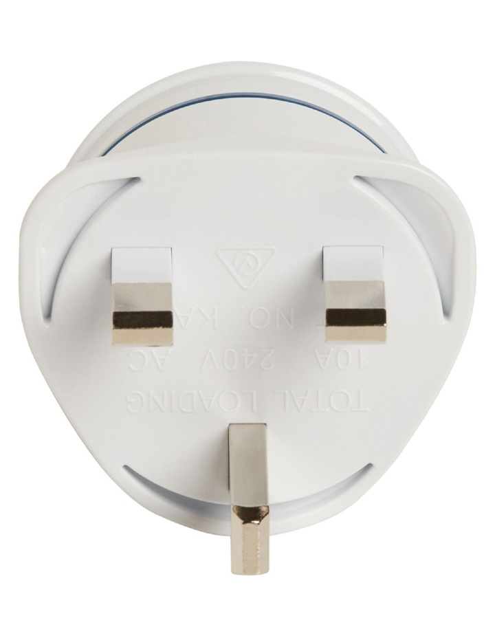 AU Travel Adaptor for UK  Parts of South East Asia and Middle East image 3